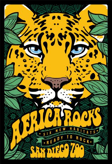Africa rocks leopard logo