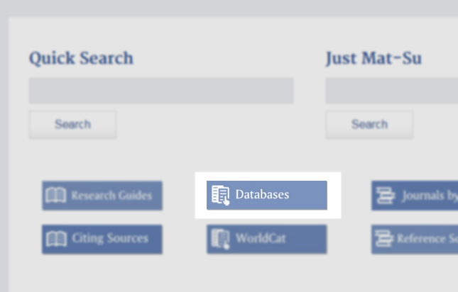 "Screenshot of MSC library website with ""Databases"" link highlighted"