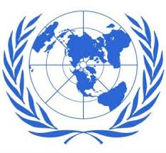 Continents reprsented in a United Nations logo