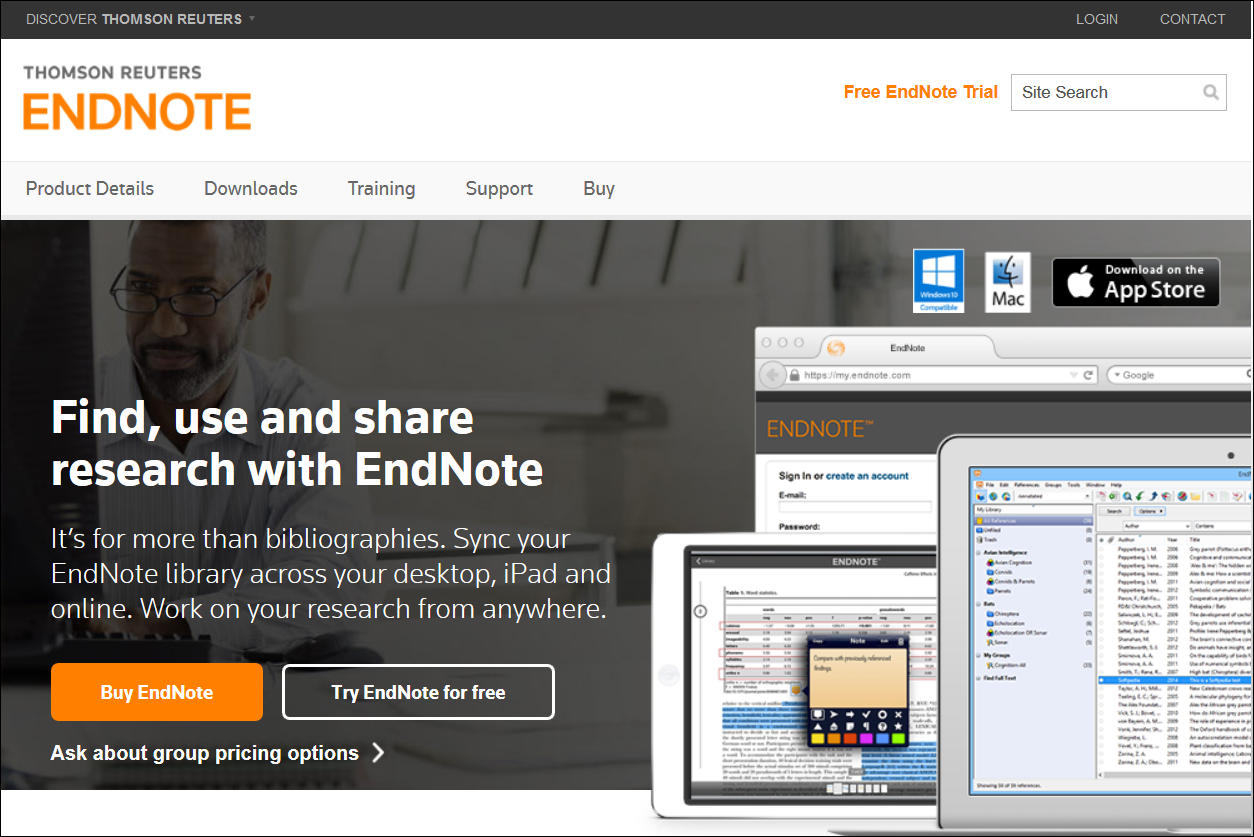 EndNote site