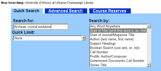 Search for a book in the catalog