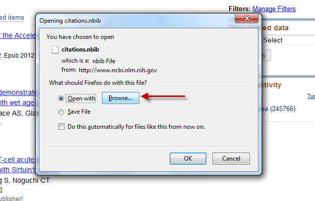 "Choose EndNote if you are given the ""Browse"" option"