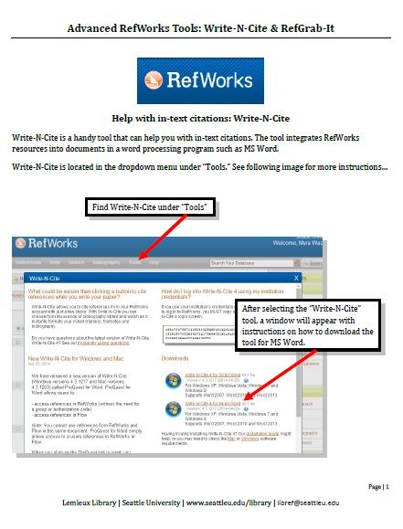 advanced-refworks-tools