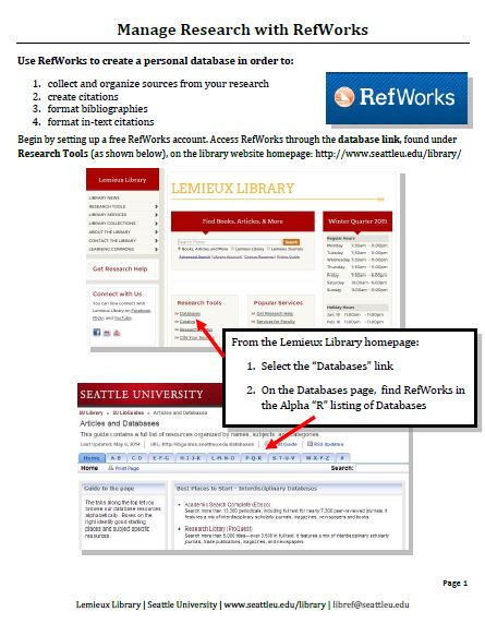 manage-research-with-refworks
