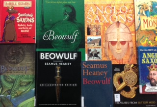 Selection of children's books about Beowulf