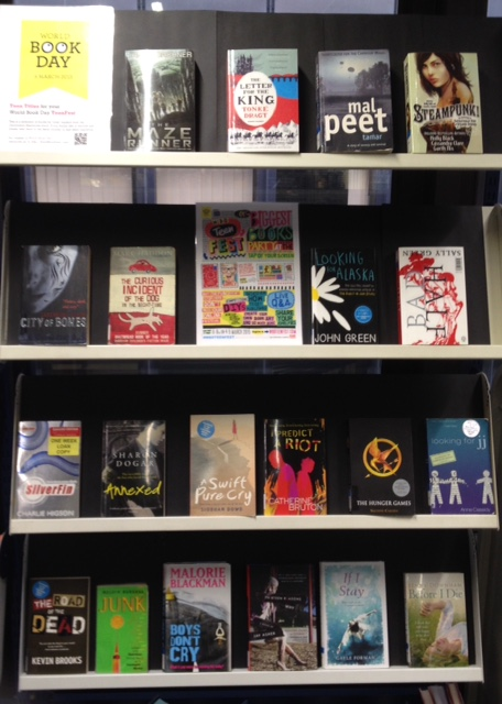 Picture of fiction book display