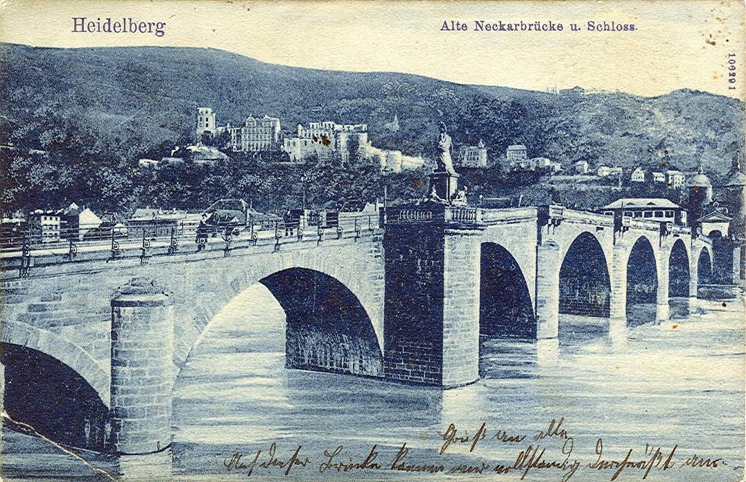 Drawing of the Heidelberg bridge
