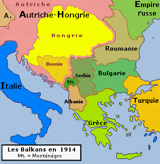 Balkan Peninsula in 1914