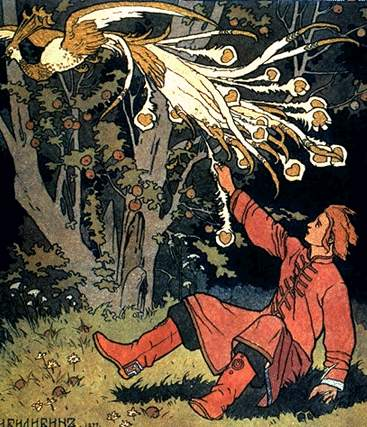 Ivan Bilibin's 1899  illustration to a Russian fairy tale about the Firebird