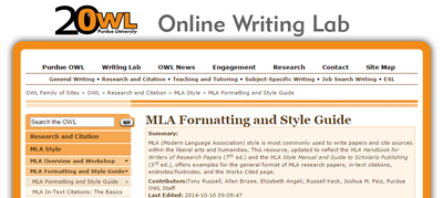 OWL MLA Guide screenshot