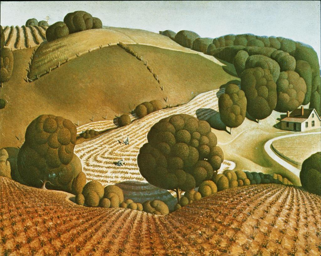"Grant Wood. ""Young Corn."" 1931."