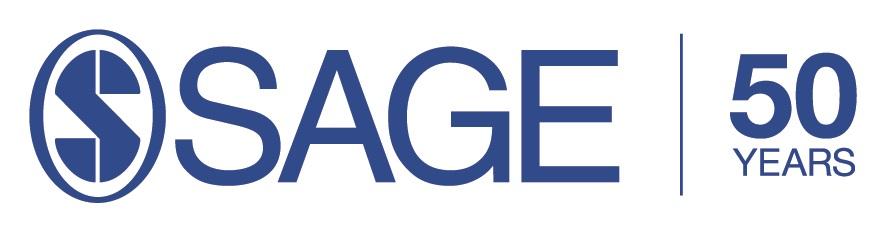 S Sage 50 years logo