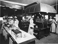 Dietetics laboratory at Margaret M. Carnegie School, Pittsburgh, PA, around 1910-20