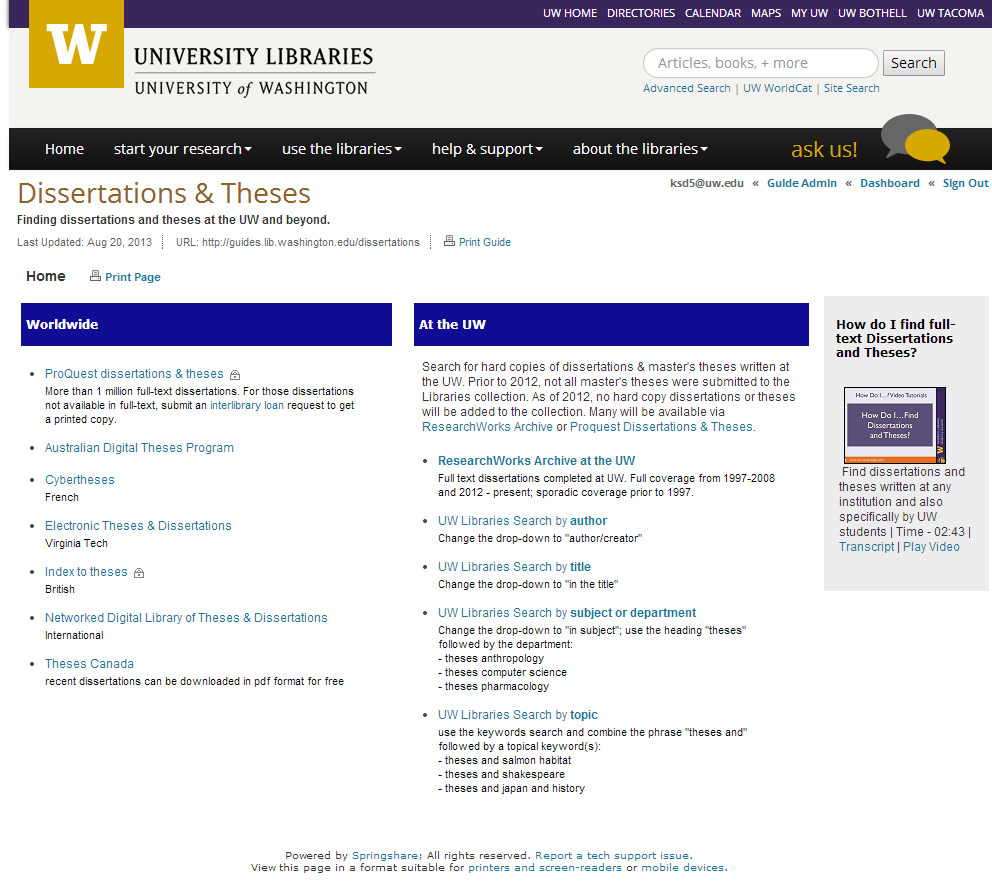 Dissertations & Theses Research Guide