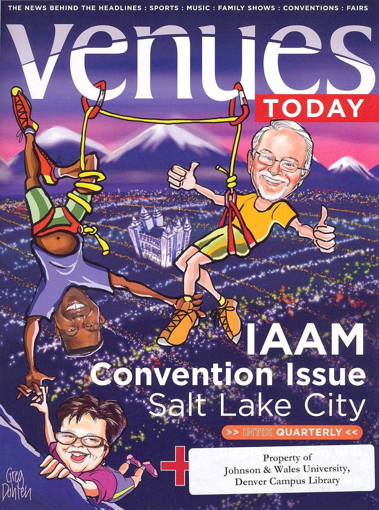 cover of venues today magazine