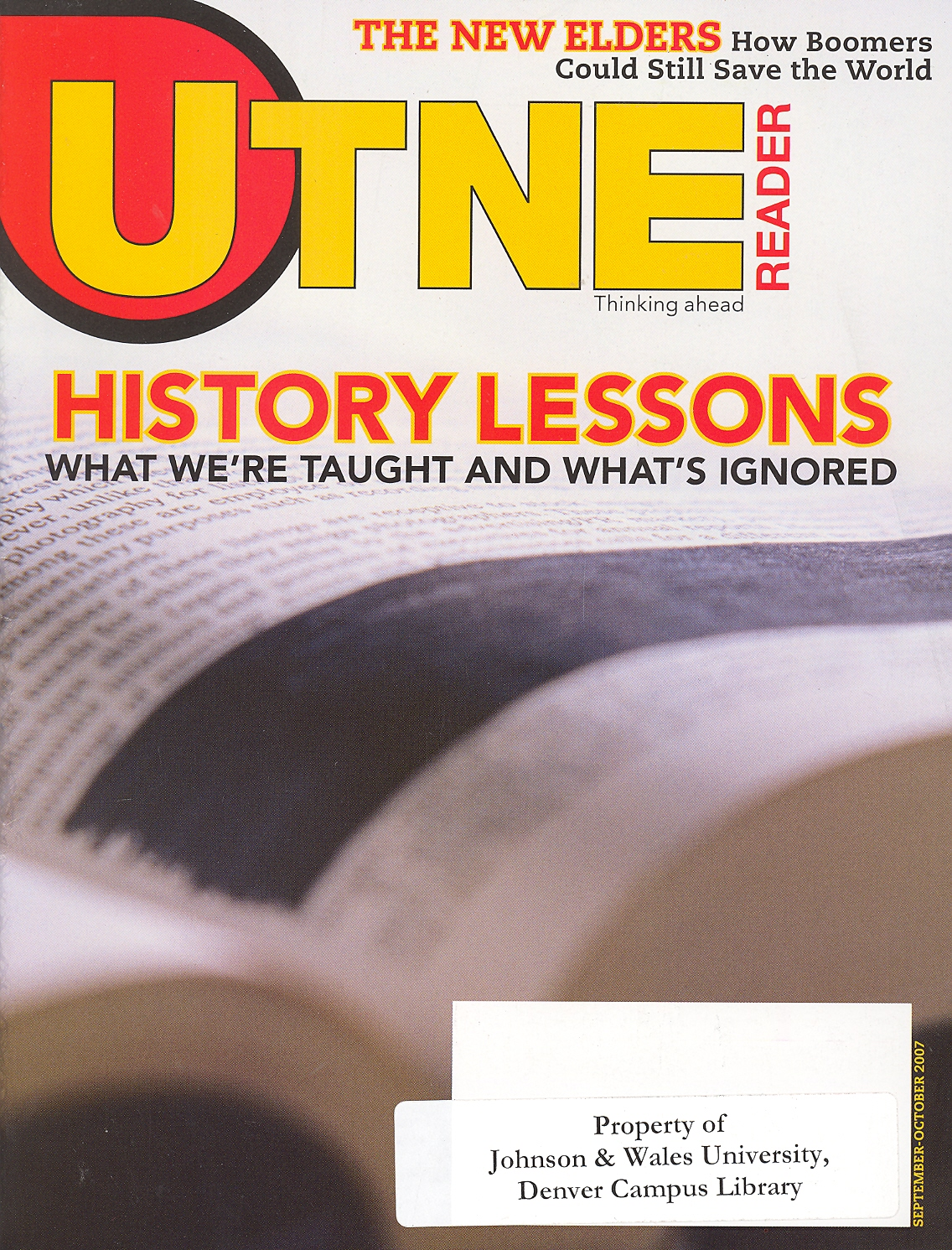 Cover of UTNE reader magazine