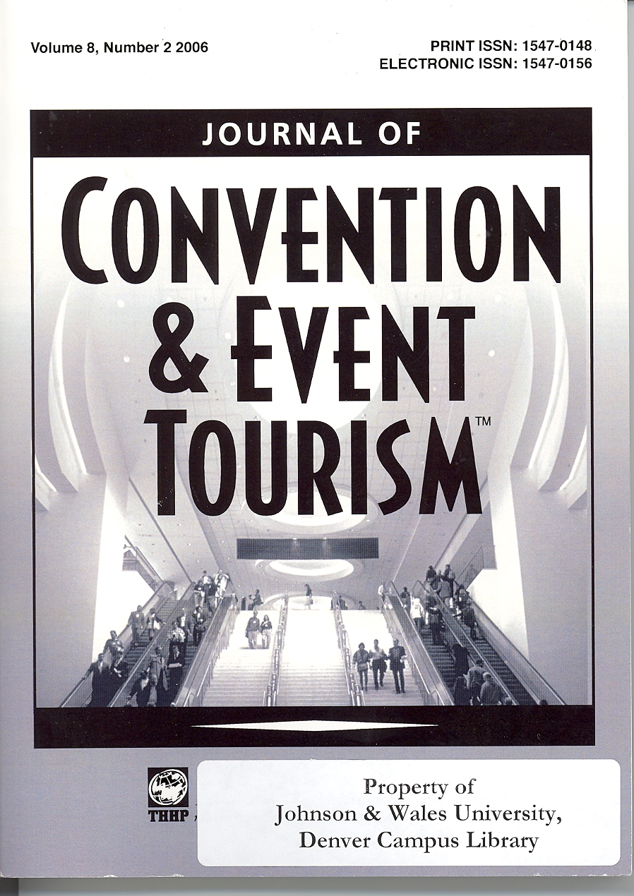 cover of the journal of covention and event tourism
