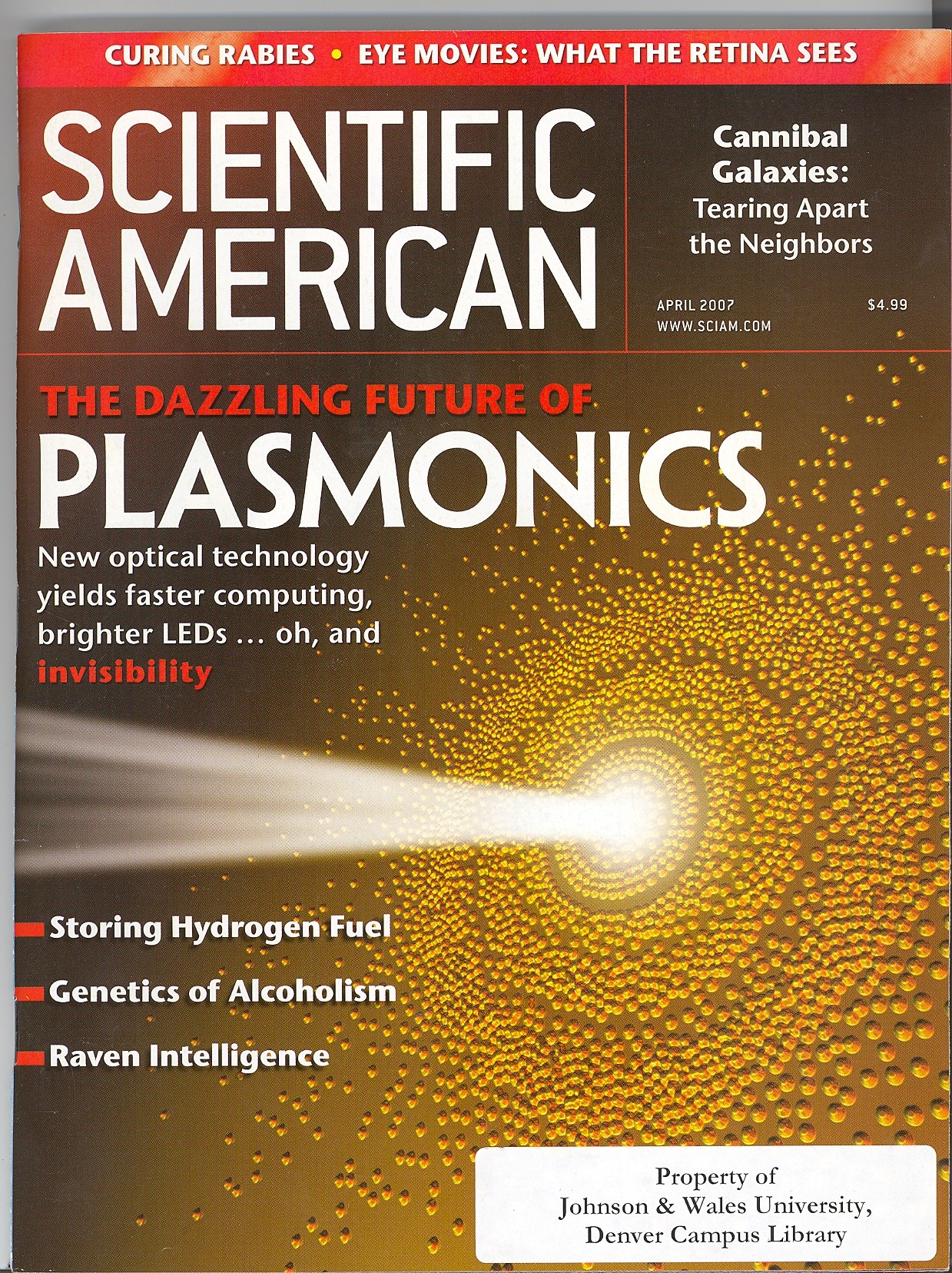 Cover of the Scientific American Magazine