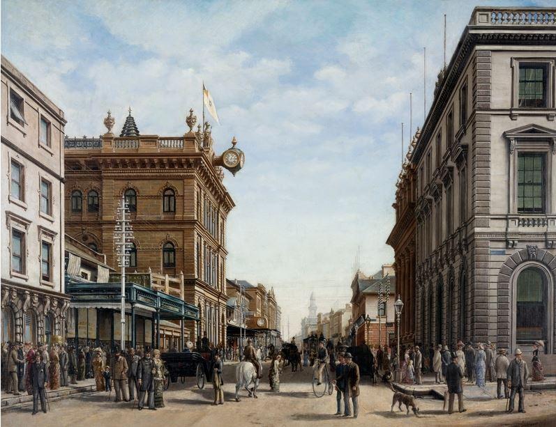George Street, Sydney, 1883 / Alfred Tischbauer