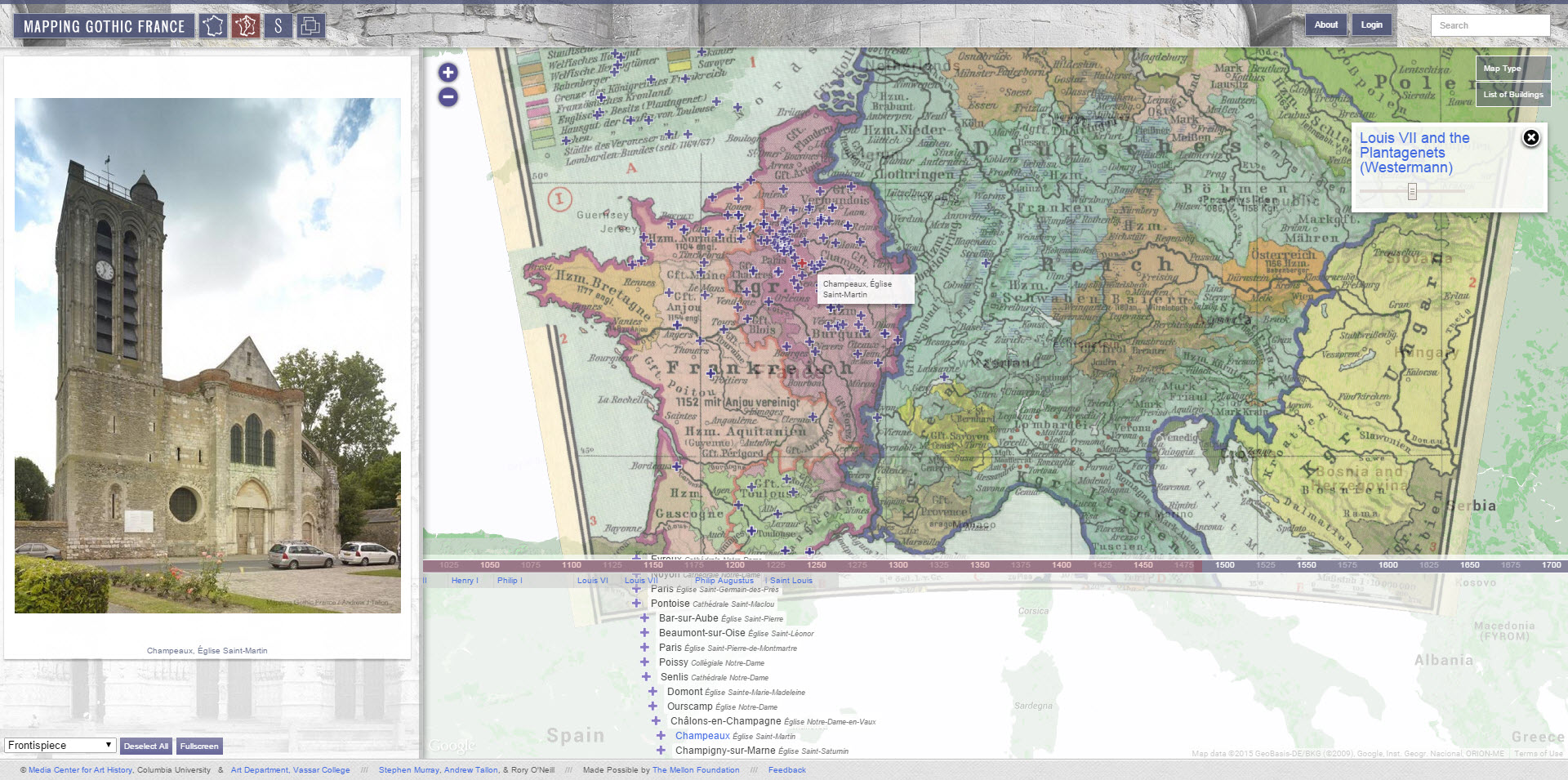 Mapping Gothic France