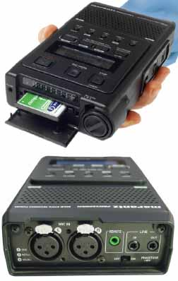 Image of professional digital audio recorder