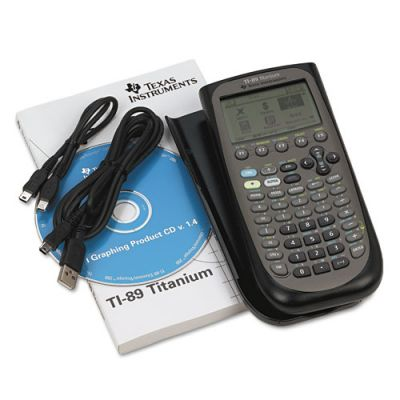 Image of graphing calculator manual and cables