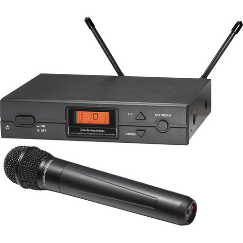 Image of wireless handheld microphone and receiver