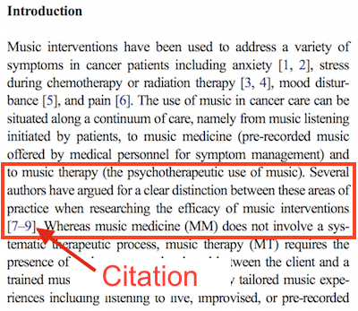 Citation in Journal Article