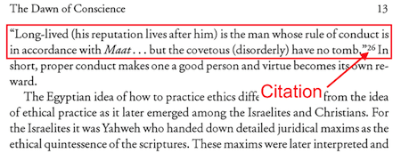 Citation in Book