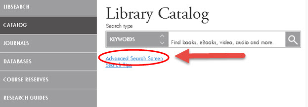 Catalog - search box UHD Library Catalog