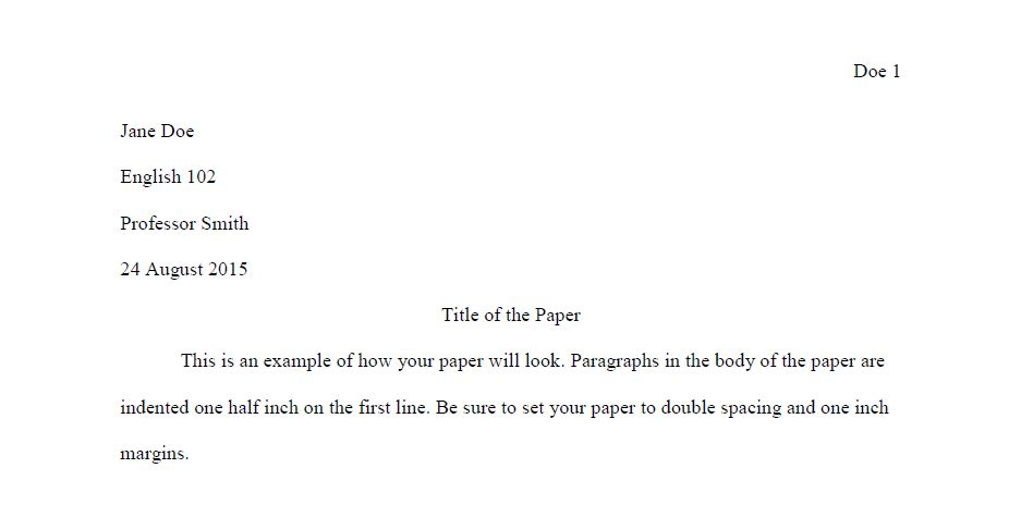 outline format sample research paper