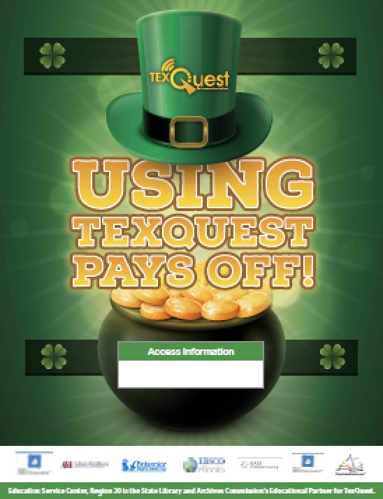 TexQuest St. Patrick's Day Seasonal Flyer
