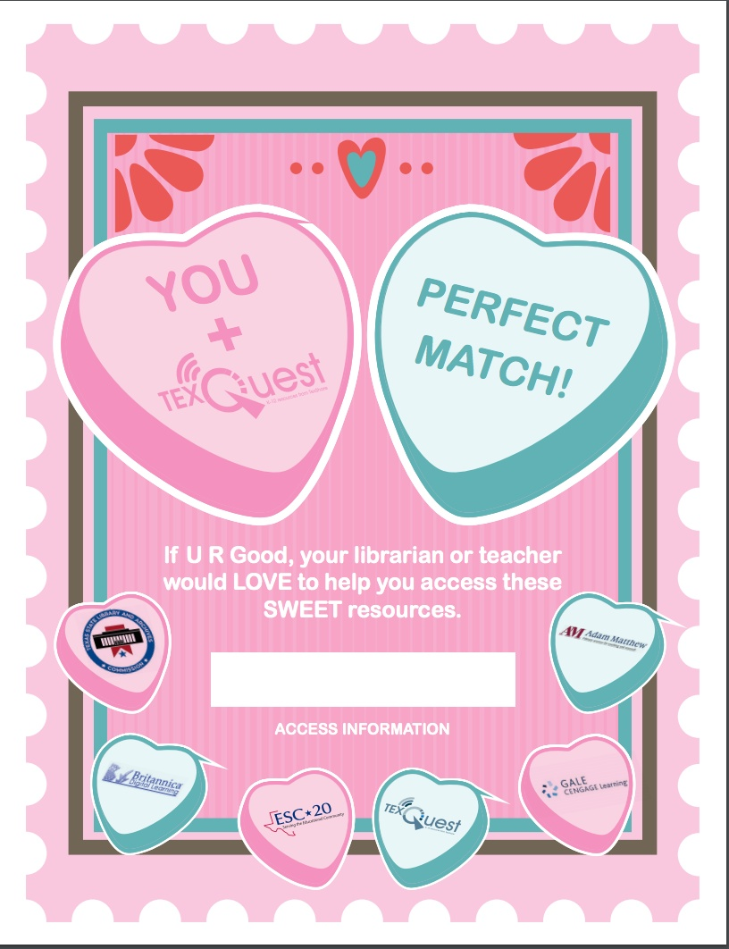 TexQuest Valentine's Day Seasonal Flyer