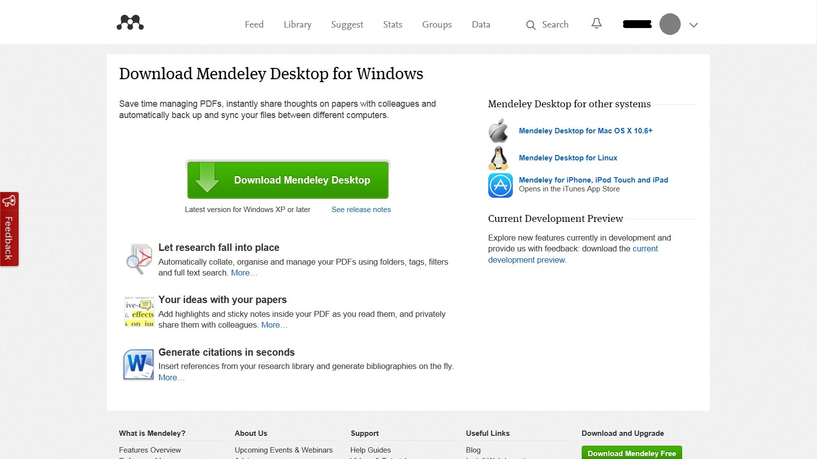 Download Mendeley
