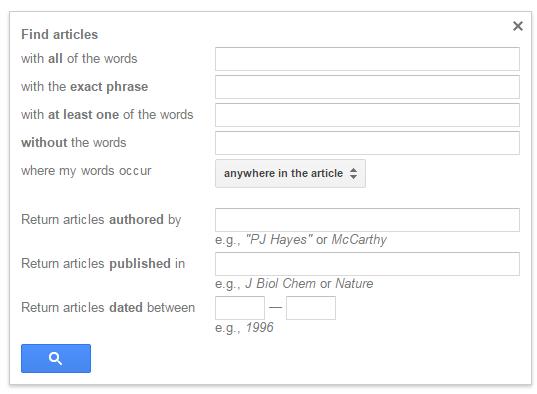 Google Scholar Advanced Search 12.14