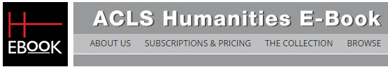 ACLS Humanities eBooks