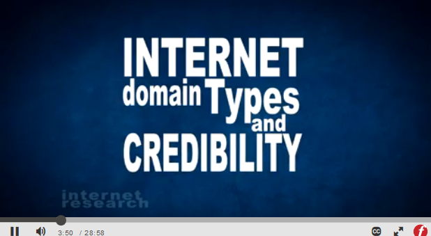 Internet domain types and crediblity