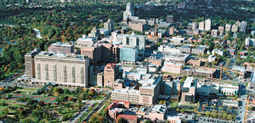 WUSM campus, aerial view