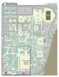 University of Montana, Map