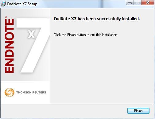 finalizing endnote