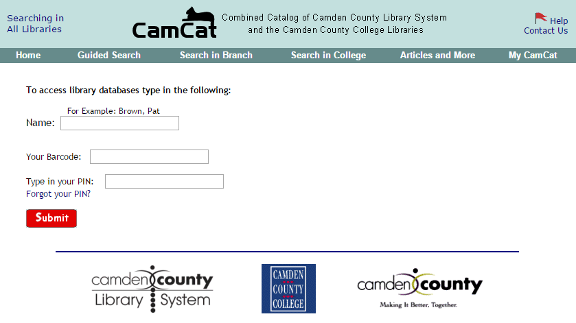 CCC Library Login