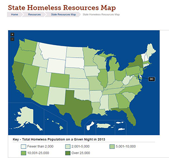 2014 State Homeless Resources Map