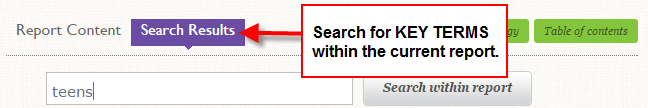 mintel search in results