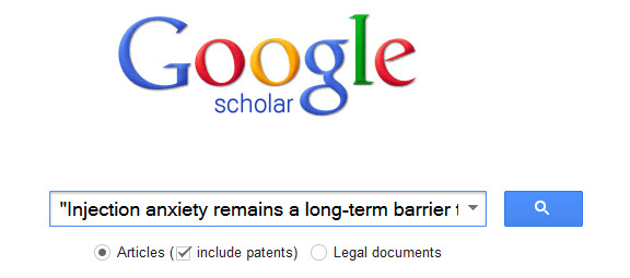 Google Scholar Search for Injection anxiety remains a long-term barrier to medication adherence in multiple sclerosis