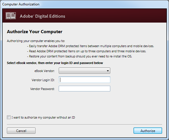 Authroize Your Computer pop up