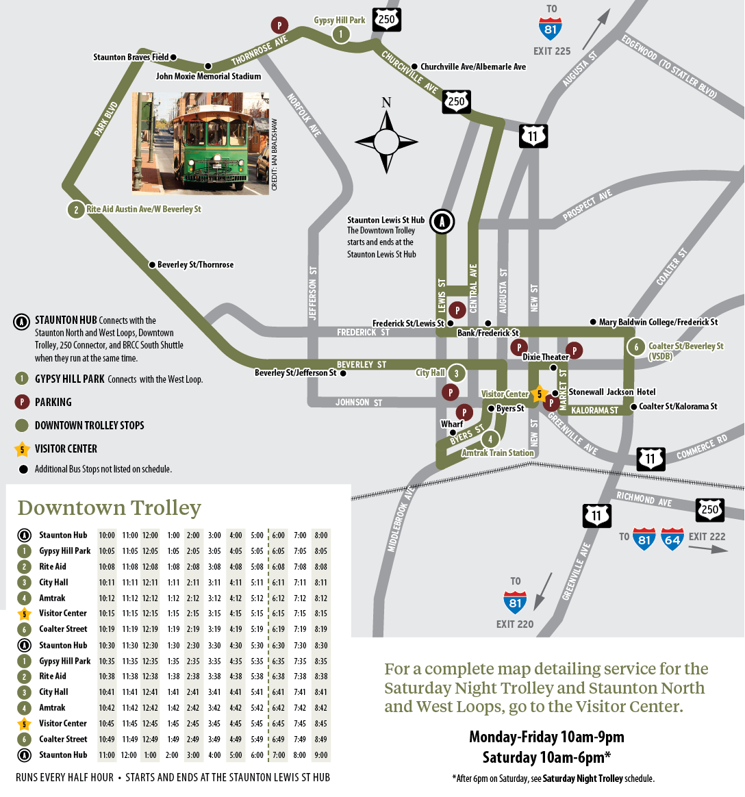 Tiny Trolley map