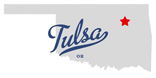 map of Tulsa OK courtesy of TownMapsUSA.com