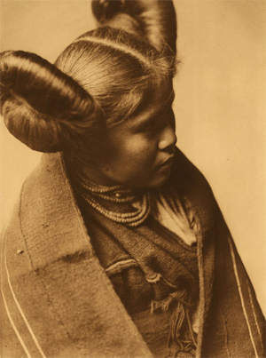 "Edward S. Curtis. ""Chaíwa. Tewa, Profile,"" from The North American Indian, Vol. XII, The Hopi, 1922. Photogravure."