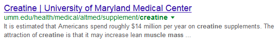Screenshot of phrase search