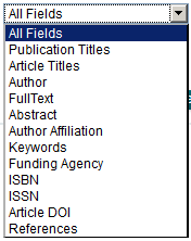 Wiley Science Advanced Search Field Options